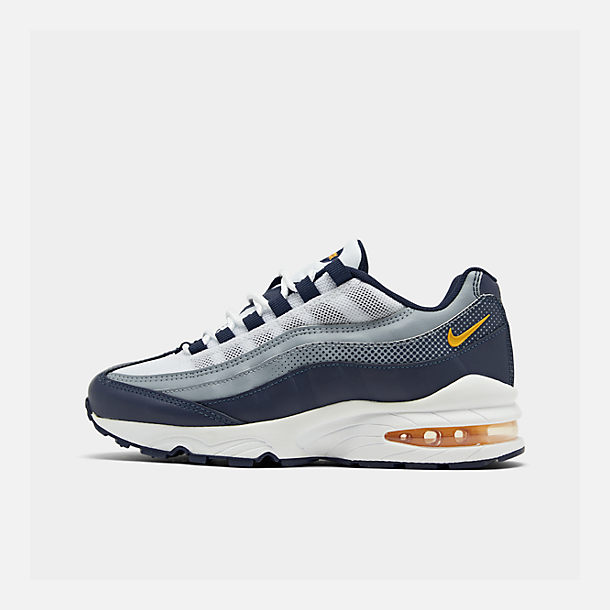 Right view of Boys' Big Kids' Nike Air Max 95 RF Casual Shoes in Midnight Navy/Laser Orange/Pure Platinum