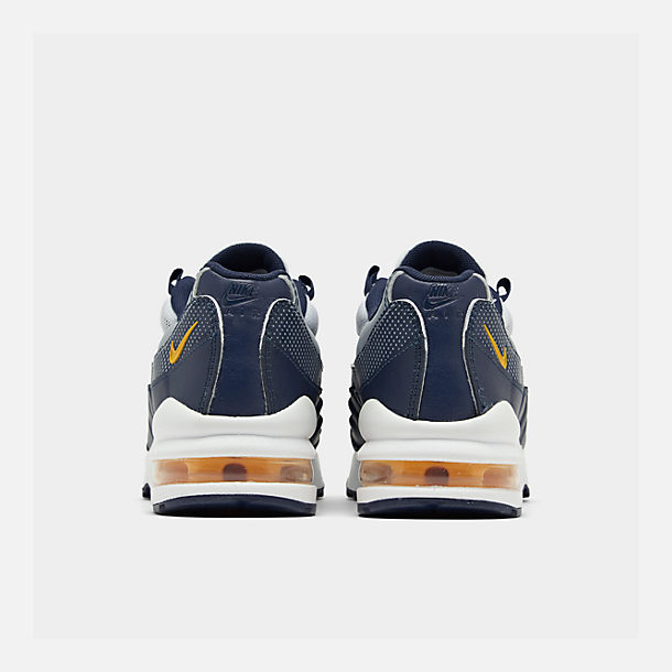 Left view of Boys' Big Kids' Nike Air Max 95 RF Casual Shoes in Midnight Navy/Laser Orange/Pure Platinum