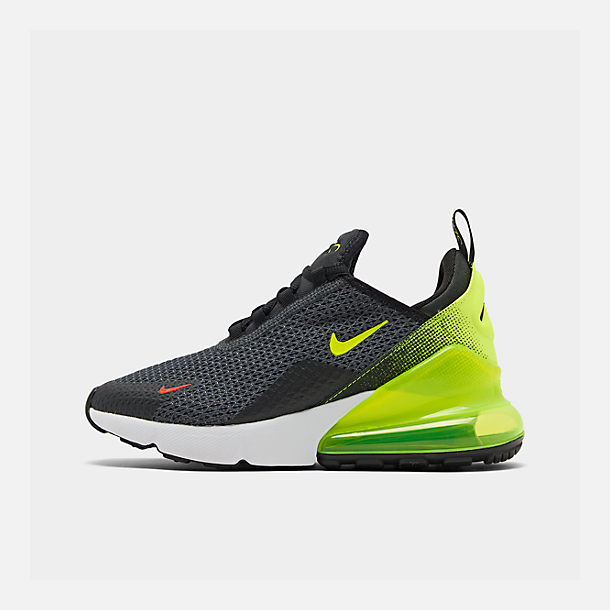 Right view of Big Kids' Nike Air Max 270 RF Casual Shoes in Anthracite/Volt/Black/Bright Crimson
