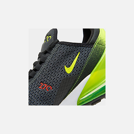 Front view of Big Kids' Nike Air Max 270 RF Casual Shoes in Anthracite/Volt/Black/Bright Crimson