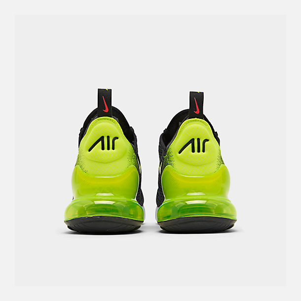 Left view of Big Kids' Nike Air Max 270 RF Casual Shoes in Anthracite/Volt/Black/Bright Crimson