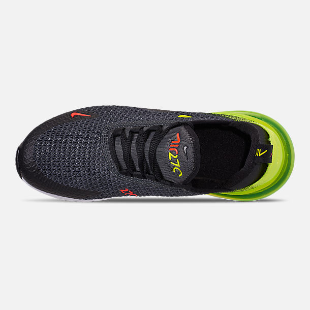 Top view of Big Kids' Nike Air Max 270 RF Casual Shoes in Anthracite/Volt/Black/Bright Crimson