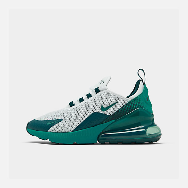 Right view of Big Kids' Nike Air Max 270 RF Casual Shoes in White/Spirit Teal/Nightshade