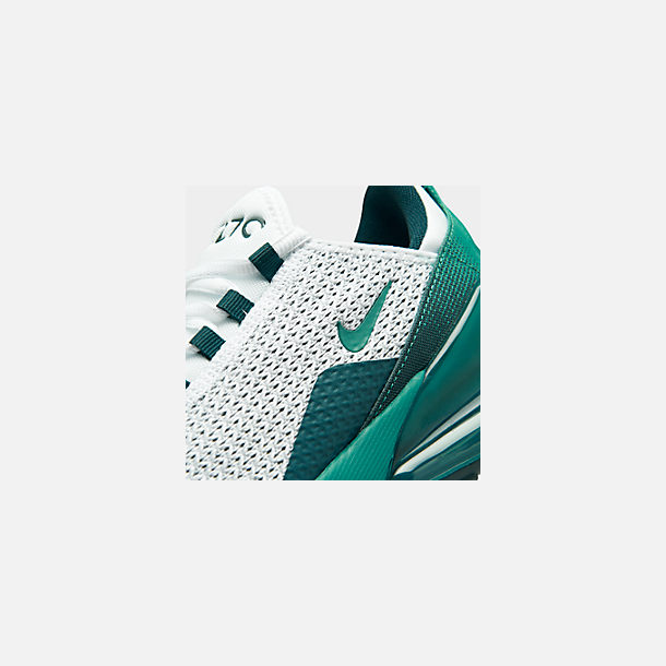 Front view of Big Kids' Nike Air Max 270 RF Casual Shoes in White/Spirit Teal/Nightshade