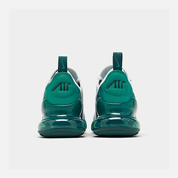 Left view of Big Kids' Nike Air Max 270 RF Casual Shoes in White/Spirit Teal/Nightshade