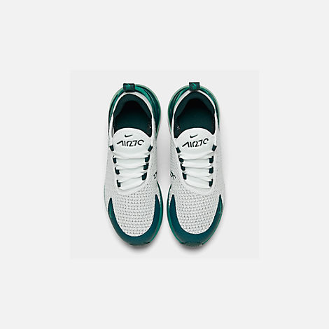 Back view of Big Kids' Nike Air Max 270 RF Casual Shoes in White/Spirit Teal/Nightshade