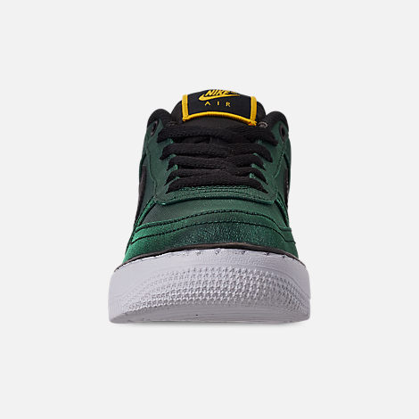Front view of Girls' Big Kids' Nike Air Force 1 LV8 Shift Casual Shoes in Aurora Green/Black/Tour Yellow/White