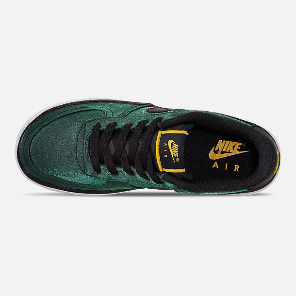 Top view of Girls' Big Kids' Nike Air Force 1 LV8 Shift Casual Shoes in Aurora Green/Black/Tour Yellow/White