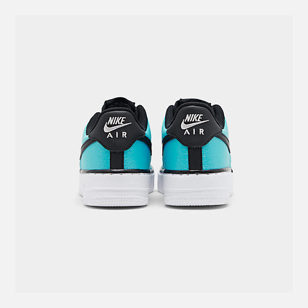 Left view of Girls' Big Kids' Nike Air Force 1 LV8 Shift Casual Shoes in Blue Gaze/Black/Platinum Tint