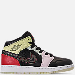 Girls' Big Kids' Air Jordan 1 Mid SE Casual Shoes