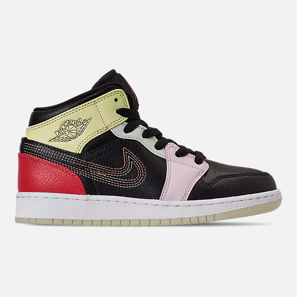 the best attitude 26c61 82b88 Girls' Big Kids' Air Jordan 1 Mid SE Casual Shoes