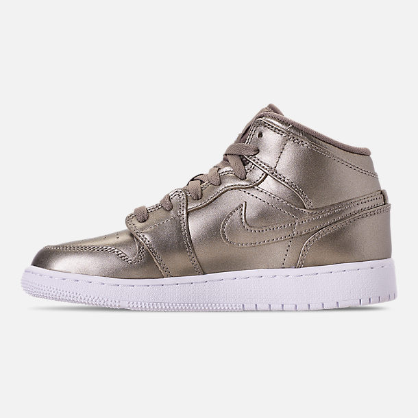 low priced d8cc6 92a1b Left view of Girls  Big Kids  Air Jordan 1 Mid SE Casual Shoes in