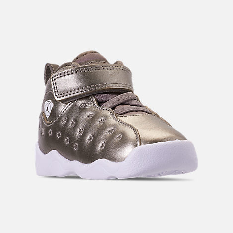 d70bd516c5d95b Three Quarter view of Girls  Toddler Jordan Jumpman Team II SE Basketball  Shoes in Sepia