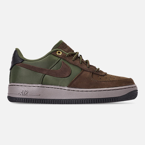 Right view of Boys' Big Kids' Nike Air Force 1 Premier Casual Shoes in Baroque Brown/Medium Olive/Army Olive/Medium Olive