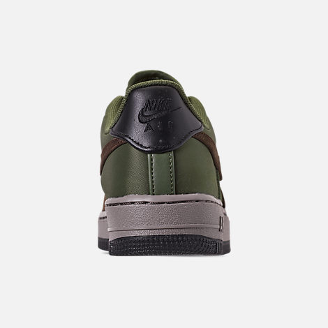 Back view of Boys' Big Kids' Nike Air Force 1 Premier Casual Shoes in Baroque Brown/Medium Olive/Army Olive/Medium Olive