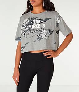 Women's Nike Sportswear Camo Force Crop T-Shirt
