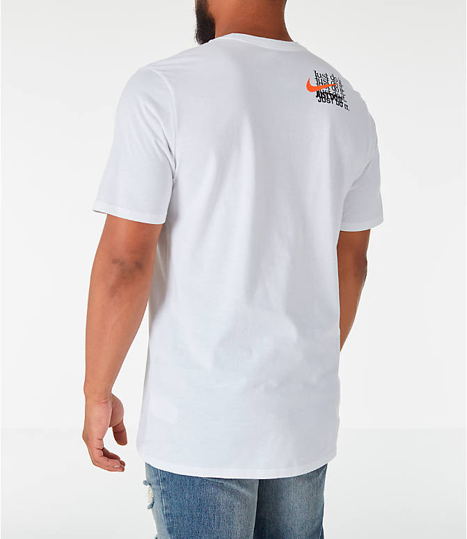 Back Left view of Men's Nike Sportswear JDI Multi T-Shirt in White