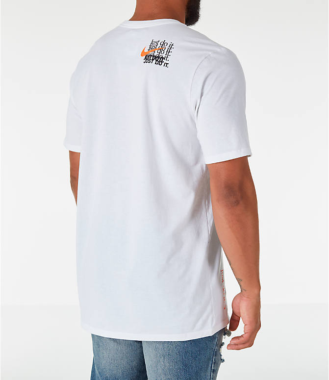 Back Right view of Men's Nike Sportswear JDI Multi T-Shirt in White