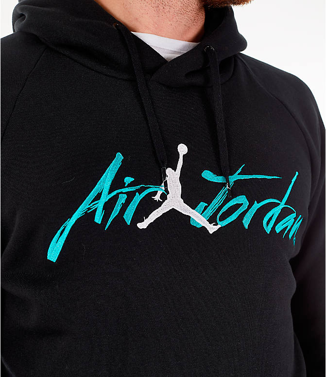 Detail 1 view of Men's Jordan Sportswear Jumpan Hoodie in Black