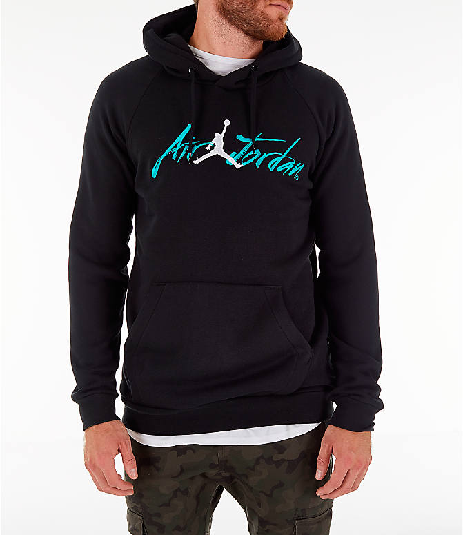 Front view of Men's Jordan Sportswear Jumpan Hoodie in Black
