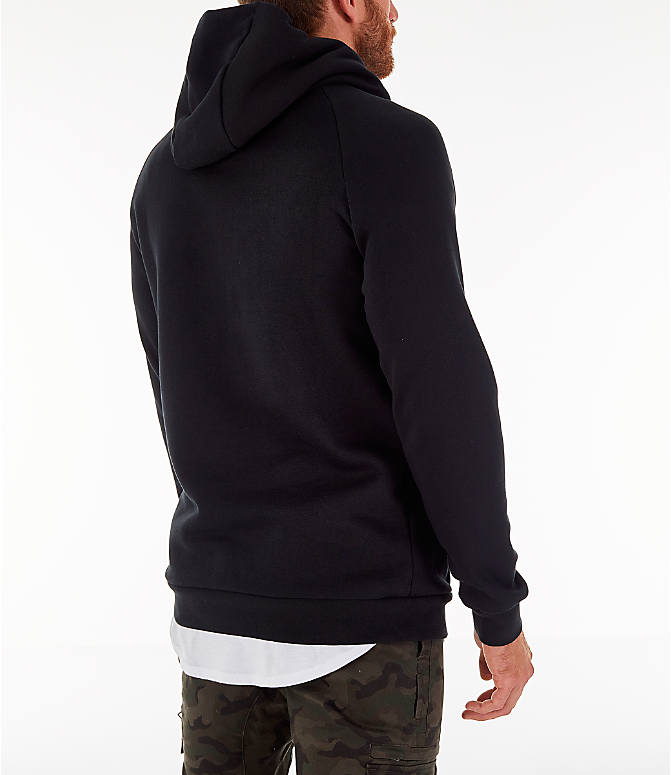 Back Right view of Men's Jordan Sportswear Jumpan Hoodie in Black
