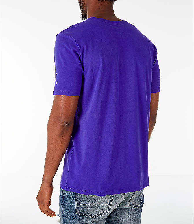 Back Left view of Men's Jordan Sportswear Greatest T-Shirt in Germain Blue
