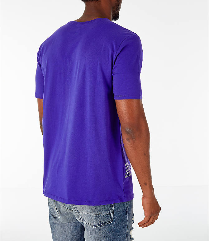 Back Right view of Men's Jordan Sportswear Greatest T-Shirt in Germain Blue