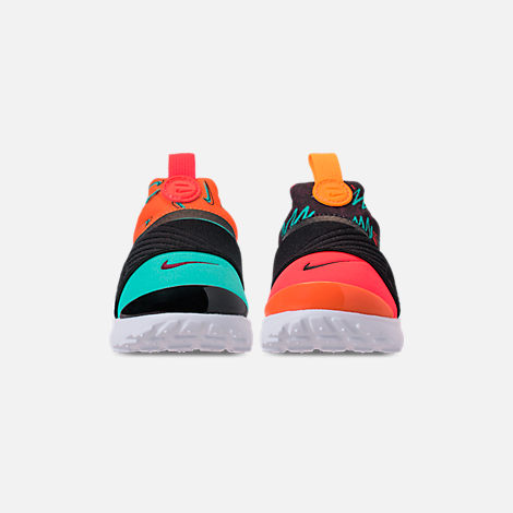 Front view of Boys' Toddler Nike Presto Extreme SE Running Shoes in Total Orange/White/Hyper Jade/Bordeaux