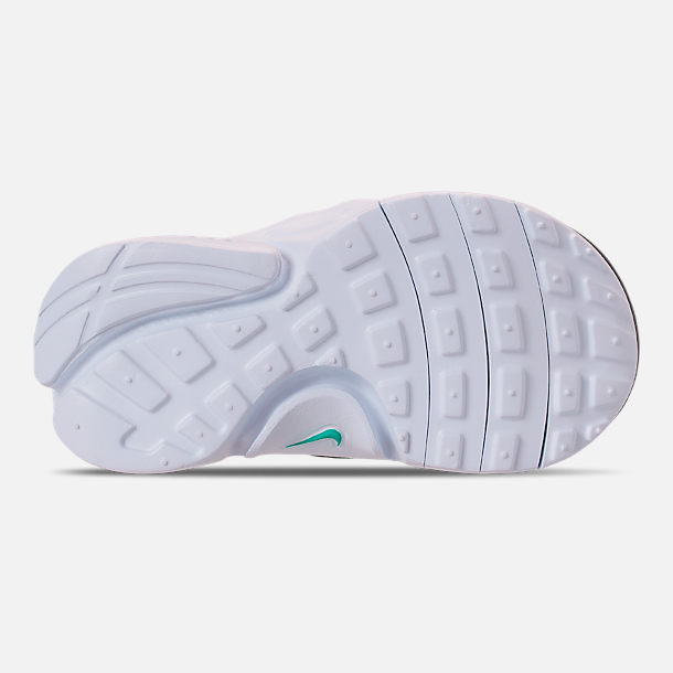 Bottom view of Boys' Toddler Nike Presto Extreme SE Running Shoes in Total Orange/White/Hyper Jade/Bordeaux