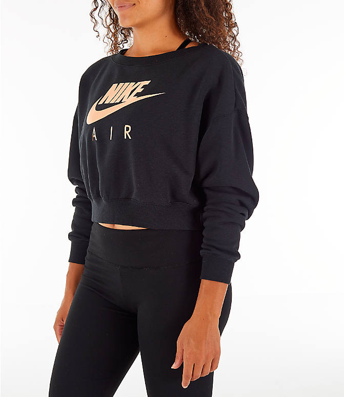 Front Three Quarter view of Women's Nike Sportswear Rally Crew Sweatshirt