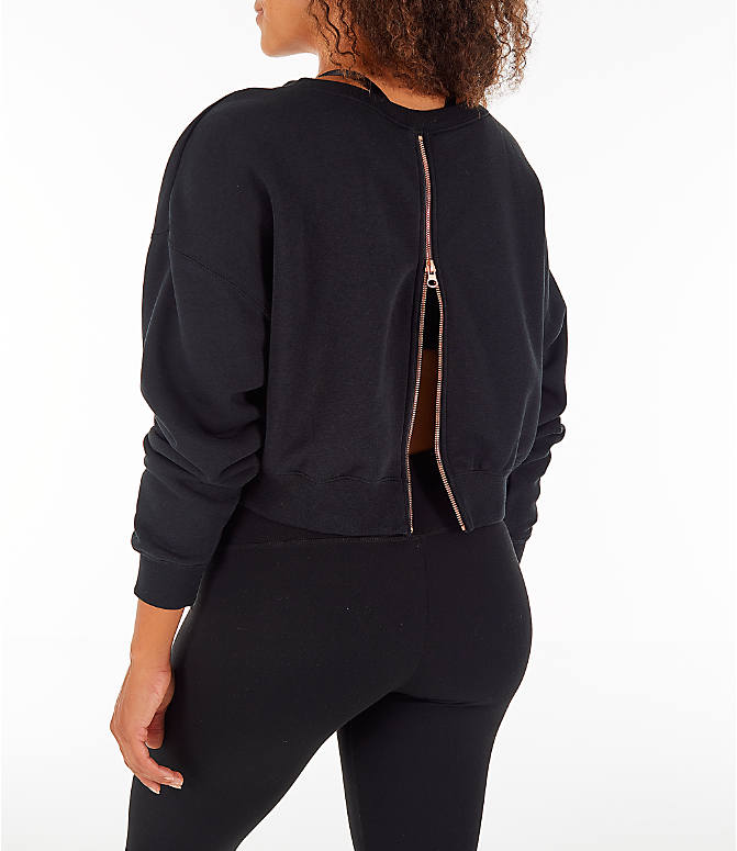 Back Left view of Women's Nike Sportswear Rally Crew Sweatshirt