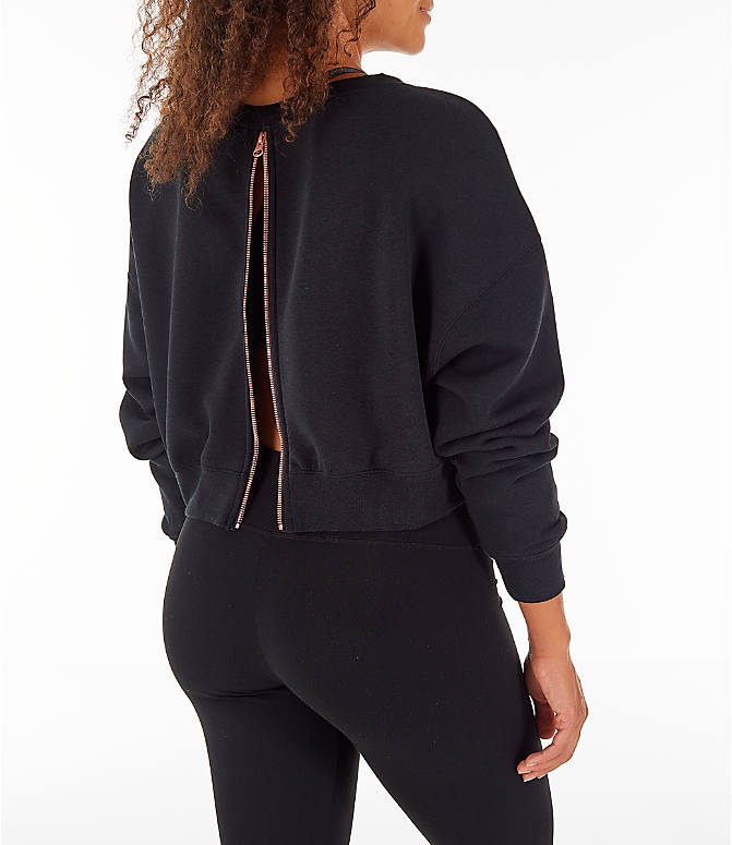 Back Right view of Women's Nike Sportswear Rally Crew Sweatshirt