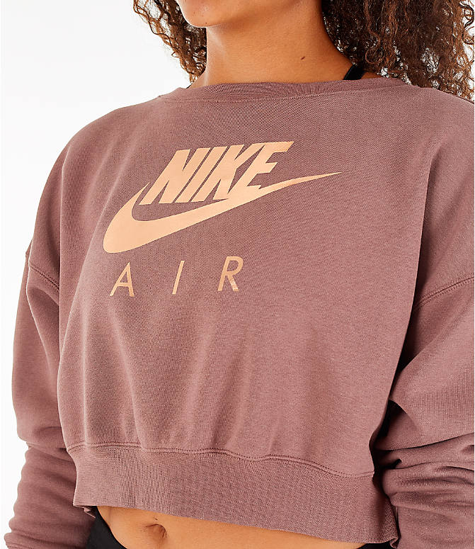 Detail 1 view of Women's Nike Sportswear Rally Crew Sweatshirt in Smoky Mauve/Rose Gold