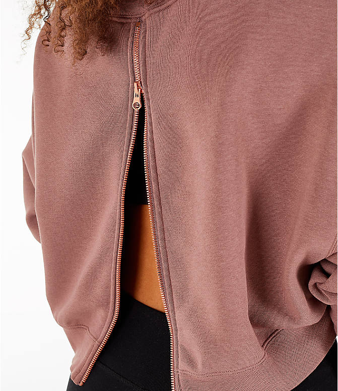 Detail 2 view of Women's Nike Sportswear Rally Crew Sweatshirt in Smoky Mauve/Rose Gold