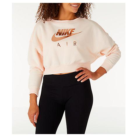 Women'S Sportswear Rally Crew Sweatshirt, Pink in Orange