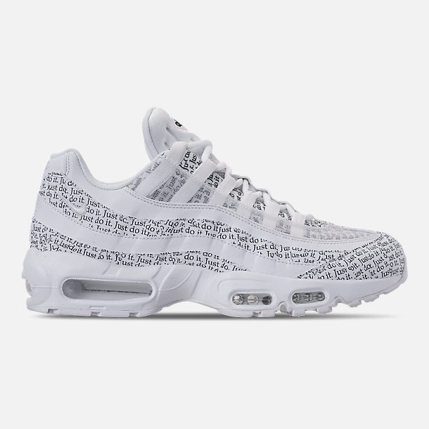 Right view of Men s Nike Air Max 95 SE JDI Casual Shoes in White White bcdd372bc