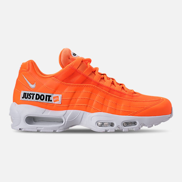 Right view of Men s Nike Air Max 95 SE JDI Casual Shoes in Total Orange  83ac6ae1331c