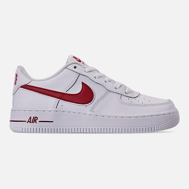 8ba3004c67 Right view of Boys' Big Kids' Nike Air Force 1 Casual Shoes in White