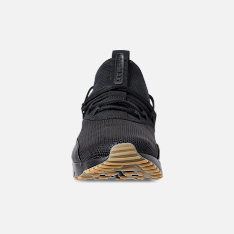 Front view of Men's Nike Air Max 90 EZ Casual Shoes in Black/Gum Light