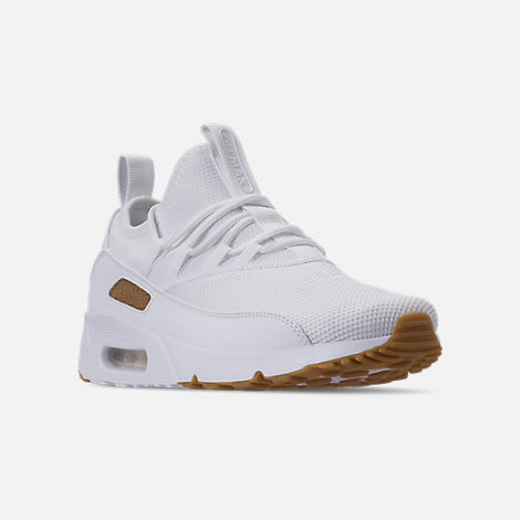 the best attitude fc5ad bc18e Three Quarter view of Mens Nike Air Max 90 EZ Casual Shoes in WhiteGum