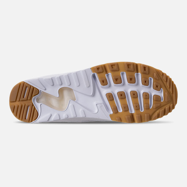 new style 85497 12ce4 Bottom view of Mens Nike Air Max 90 EZ Casual Shoes in WhiteGum Light