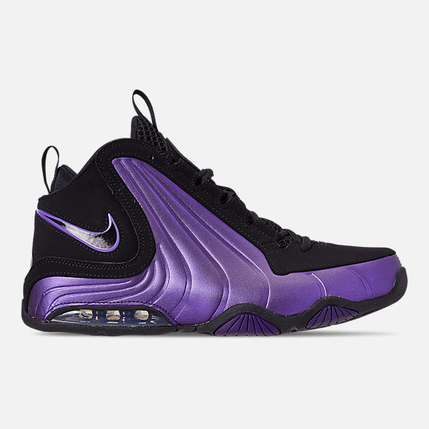 Right view of Men's Nike Air Max Wavy Basketball Shoes in Eggplant/Black/Black