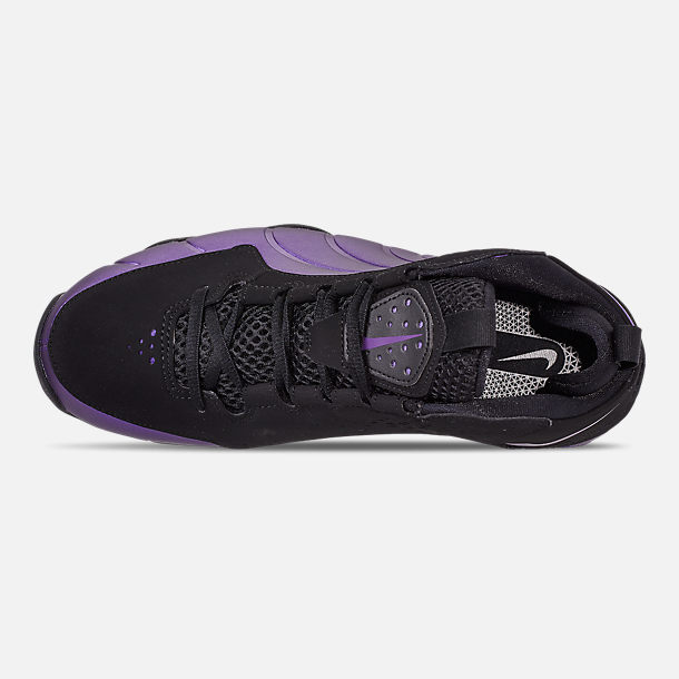 Top view of Men's Nike Air Max Wavy Basketball Shoes in Eggplant/Black/Black