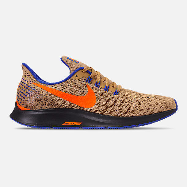 Right view of Men's Nike Zoom Pegasus 35 MWB Running Shoes in Club Gold/Total Orange/Racer Blue