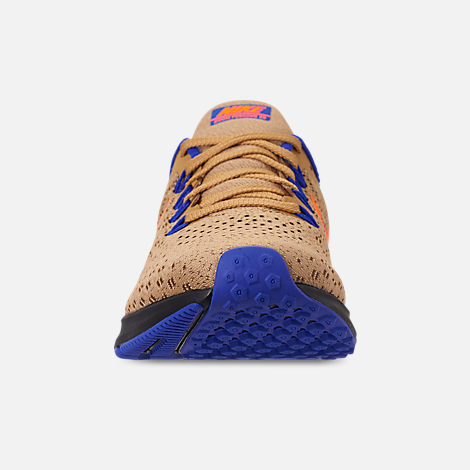 Front view of Men's Nike Zoom Pegasus 35 MWB Running Shoes in Club Gold/Total Orange/Racer Blue