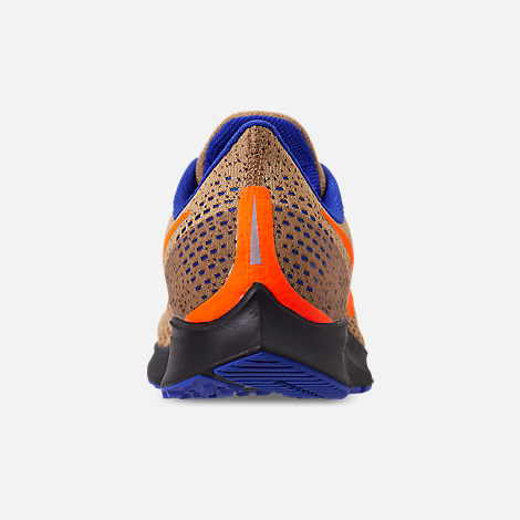 Back view of Men's Nike Zoom Pegasus 35 MWB Running Shoes in Club Gold/Total Orange/Racer Blue