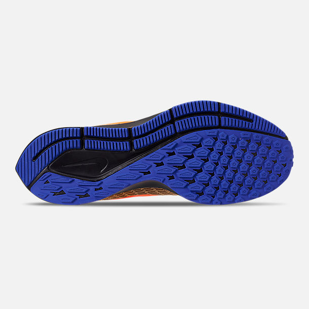 Bottom view of Men's Nike Zoom Pegasus 35 MWB Running Shoes in Club Gold/Total Orange/Racer Blue