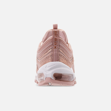 Back view of Women's Nike Air Max 97 Special Edition Casual Shoes in Particle Beige/Summit White/Metallic Bronze