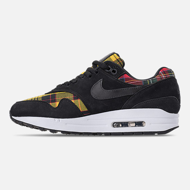 Left view of Women's Nike Air Max 1 SE Casual Shoes in Black/University Red/Amarillo