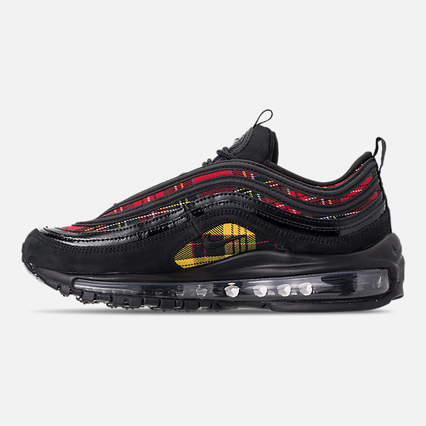 206d0e93ba ... free shipping left view of womens nike air max 97 se tartan casual shoes  in black